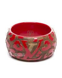 Louis Vuitton - Red Preowned Leo Monogram Wood Bangle Bracelet - Lyst