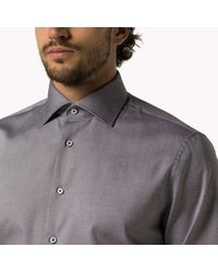 Tommy Hilfiger | Blue Cotton Oxford Fitted Shirt for Men | Lyst
