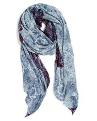 Hinge | Blue 'paisley Folklore' Scarf | Lyst