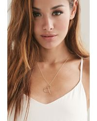 Forever 21 - Metallic Magnolia Ampersand Necklace - Lyst