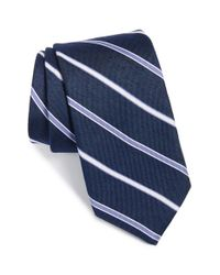 Michael Kors - Blue Stripe Silk Tie for Men - Lyst