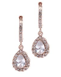 Givenchy | Pink Silk Swarovski Element Chandelier Earrings  | Lyst