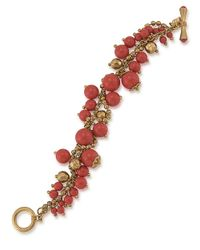 Carolee - Metallic Coral Croquet Shaky Bead Bracelet - Lyst