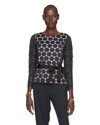 kate spade new york | Blue Dot Lace Top | Lyst