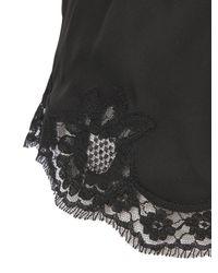 Dolce & Gabbana | Black Silk Crepe De Chine & Lace Shorts | Lyst
