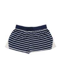Splendid | Blue Lace Trim Shorts | Lyst