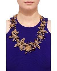 Oscar de la Renta - Metallic Gold Starfish Necklace - Lyst