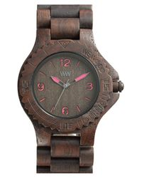 WeWood | Brown 'kale' Wood Bracelet Watch | Lyst