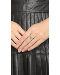 Vita Fede | Metallic Double Band & Chain Ring - Silver/clear | Lyst