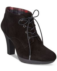 Bandolino | Black Garett Casual Lace-up Booties | Lyst
