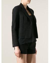 Dries Van Noten - Black Patterned Short Blazer - Lyst
