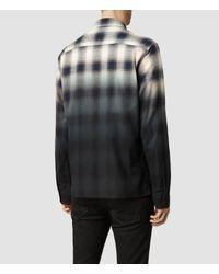 AllSaints - Gray Dip Shirt for Men - Lyst