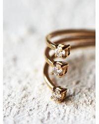 Free People | Metallic Jennie Kwon Womens Floating Diamonds Ring | Lyst