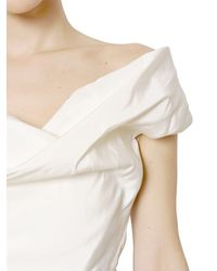 Vivienne Westwood - White Draped Silk Faille Dress - Lyst