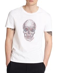 Alexander McQueen | White Skull Cotton Tee for Men | Lyst