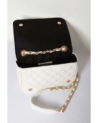 Forever 21 | Natural Quilted Faux Leather Crossbody Bag | Lyst