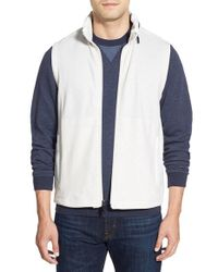 Bugatchi | White Zip Vest for Men | Lyst