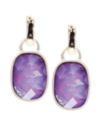 Jones New York - Metallic Goldtone Purple Stone Drop Earrings - Lyst