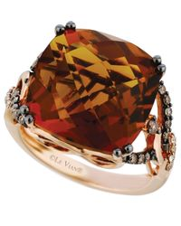 Le Vian | Pink Quartz (13-1/2 Ct. T.w.) And Diamond (1/3 Ct. T.w.) Ring In 14k Rose Gold | Lyst
