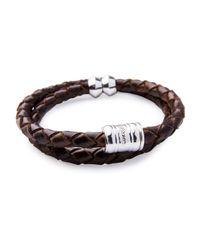Miansai   Brown Men's Woven Leather Bracelet for Men   Lyst