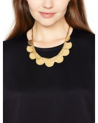 kate spade new york - Metallic Sweetheart Scallops Necklace - Lyst