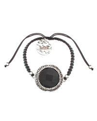 Soru Jewellery | Black Onyx Charm Cord Tie Bracelet | Lyst