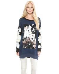 Wildfox - Blue England Collage Sweatshirt - Oxford Polyjet Black - Lyst