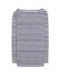 Tory Burch - Blue Lesley Striped Linen Top - Lyst
