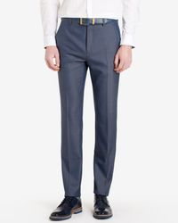 Ted Baker - Blue Wool And Silk-blend Trousers for Men - Lyst