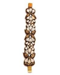 Deepa Gurnani - Metallic Crystal Cuff Bracelet - Lyst