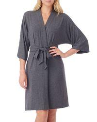 DKNY   Gray Urban Essentials Short Wrap Robe   Lyst