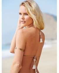 Free People - Natural She Made Me Womens Cheeky Halter Top - Lyst