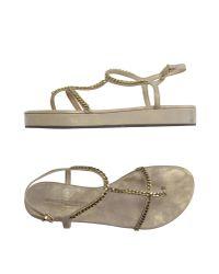 Kennel & Schmenger - Gray Thong Sandal - Lyst