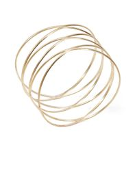 Panacea | Metallic Goldtone Wire Bangle | Lyst