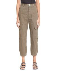 Marc By Marc Jacobs Green Cotton Twill Cargo Pants