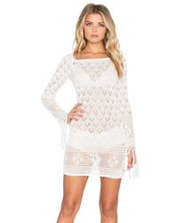 Spell & The Gypsy Collective - White Leila Off The Shoulder Mini Dress - Lyst