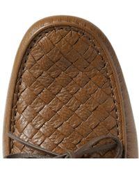Bottega Veneta | Brown Intrecciato Leather Driving Shoes for Men | Lyst
