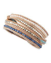 Nakamol - Blue Mixed Bead Wrap Bracelet - Lyst
