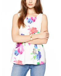 kate spade new york - White Pansy Blossoms Leather Bracelet - Lyst