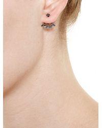 Yvonne Léon | Metallic Black Diamond Stud Earring | Lyst