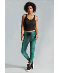 True Religion | Green Moto Zip Womens Sweatpant | Lyst