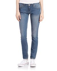 Free People | Blue Low-rise Skinny Jeans | Lyst