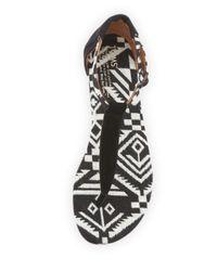 TOMS | Black Geometric Woven Playa Sandal | Lyst