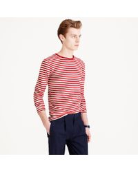 J.Crew | Red Armor-lux Long-sleeve Striped T-shirt for Men | Lyst