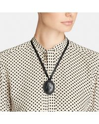 COACH | Metallic Cameo Pendant Necklace | Lyst