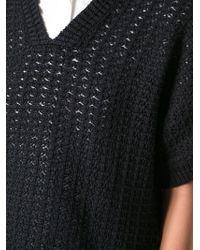 3.1 Phillip Lim - Blue Short Sleeved Sweater - Lyst
