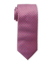 Hickey Freeman - Red Check Silk Tie for Men - Lyst