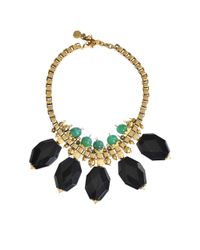 Ela Stone | Metallic Dafna Bib Necklace | Lyst