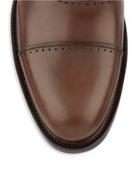 Kenneth Cole Reaction | Brown Pretty Much Leather Cap Toe Oxfords for Men | Lyst