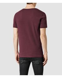 AllSaints | Purple Tonic Scoop T-shirt for Men | Lyst
